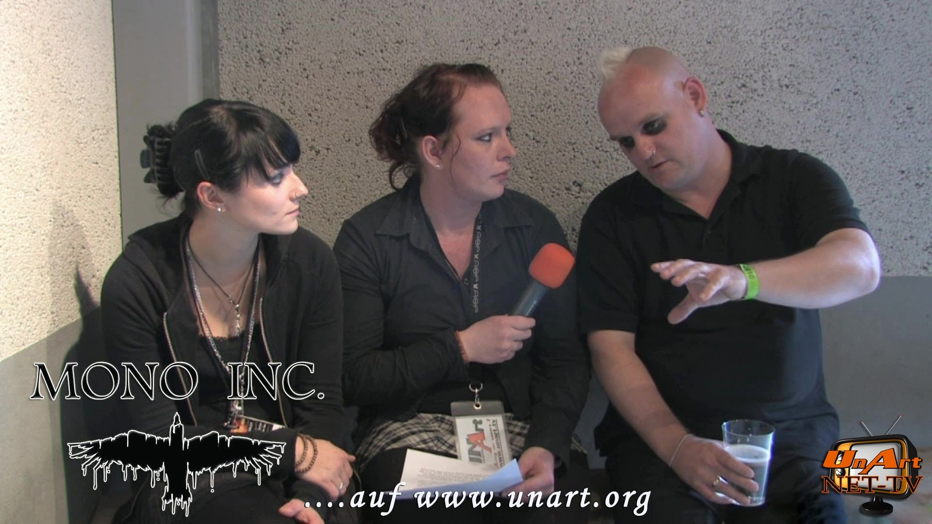 UnArt Live TV - Interview Mono Inc., Summersend Andernach 2010